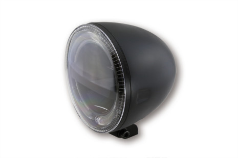 HIGHSIDER 5 3/4 inch LED Headlight CIRCLE, black