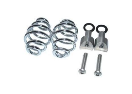 """SPIRAL SPRINGS CHROME 3"""" WITH MOUNTING"""