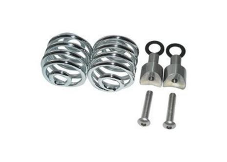 """SPIRAL SPRINGS CHROME 2"""" WITH MOUNTING"""