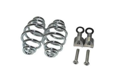 """SPIRAL SPRINGS CHROME 4"""" WITH MOUNTING"""