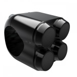 The Quad Micro Switch Button Housing 22mm, black