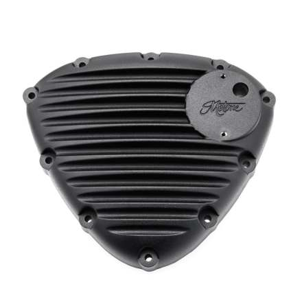 Finned Timing/Stator Cover - Black