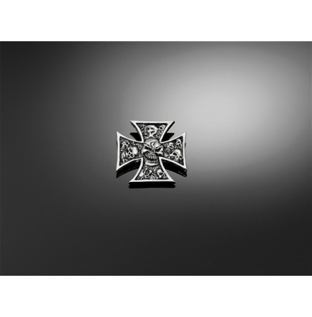 HIGHWAY HAWK Sticker Gothic cross with skull, size XS