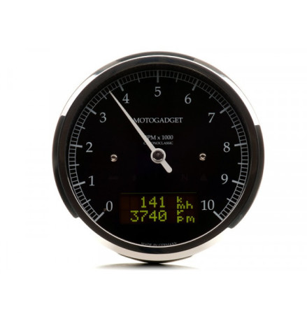 motogadget motogadget motoscope classic rev counter dark edition 10.000 RPM