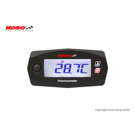 KOSO Dual Thermometer Mini 4 (Battery) up to 250 Degrees