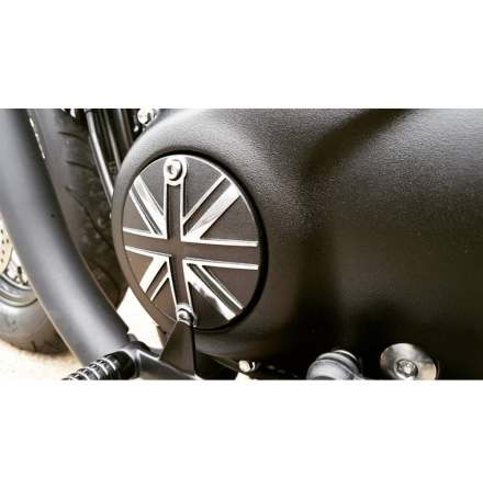 Clutch Badge - Union Jack - Black/Polish Contrast Finish
