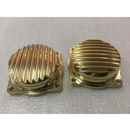 Finned EFI Carb Tops Contrast Cut Brass