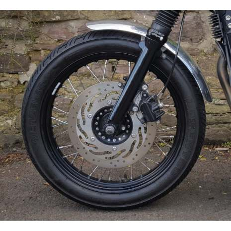 Front Mudguard/Fender- Spoke Wheels - Brushed Aluminium