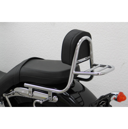 FEHLING Sissy Bar made of tube with cushion and carrier, TRIUMPH America 2007-