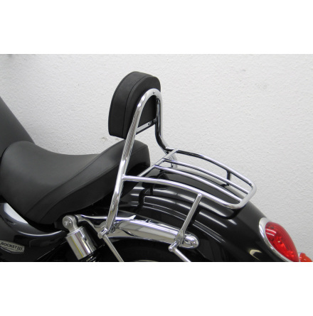FEHLING Driver Sissy Bar with cushion and carrier, TRIUMPH Rocket III Roadster 2010-