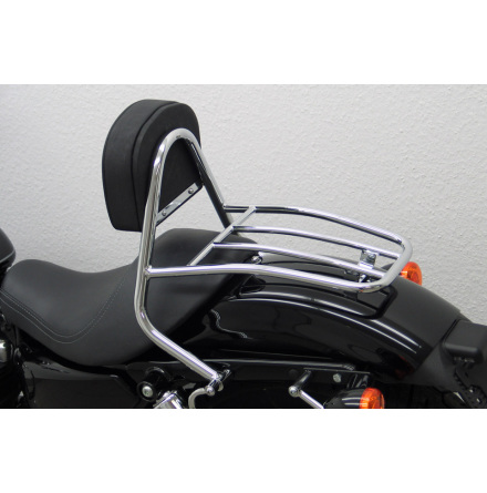 FEHLING Driver Sissy Bar with cushion and carrier, H-D Sportster 2004-