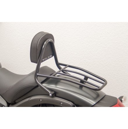 FEHLING Driver Sissy Bar with cushion and luggage carrier, KAWASAKI Vulcan S (EN650), 15