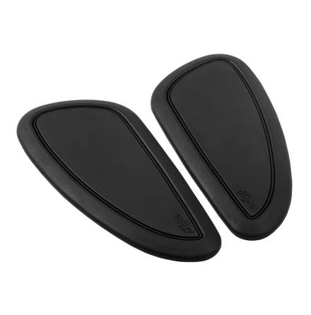 Fuel/Gas/Petrol Tank Custom Knee Pads - Black Pinstripe