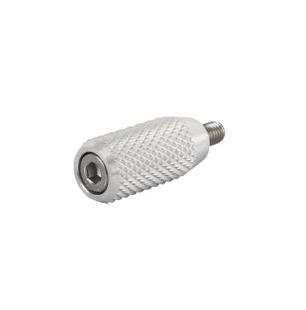Gear Shifter Lever End Peg - Knurled - Aluminium