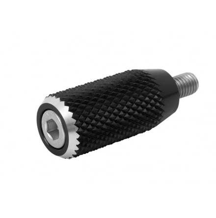 Gear Shifter Lever End Peg - Knurled - Black