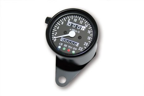 Steel speedometer black