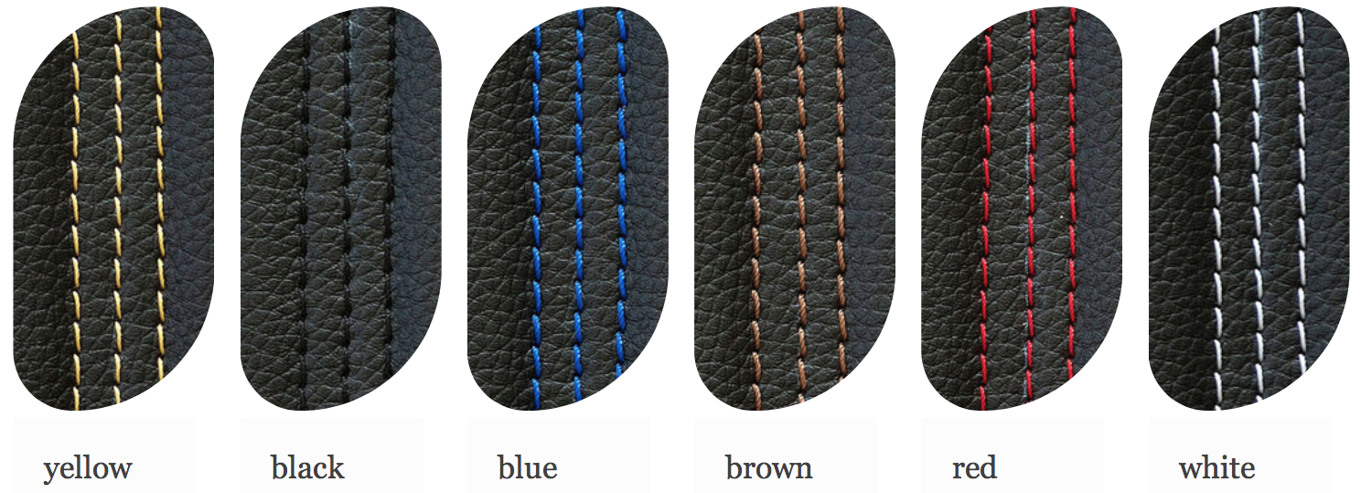 Jemparts Cafe Racer seat thread colour options